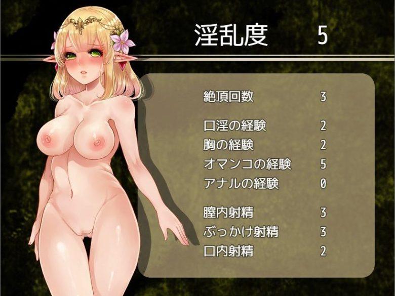 ミリィと生贄の森エロステータス紹介